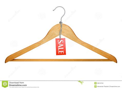 photo hanger clothes hanger with sale tag stock photo image 29519704