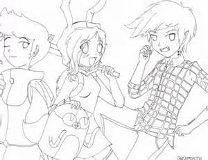 adventure anime version uncolored 2 sasumie723 deviantart