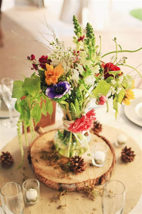centros de mesa para bodas woods and wildflowers