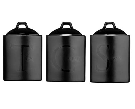black ceramic kitchen canisters ceramic tea coffee sugar canisters kitchen storage jars