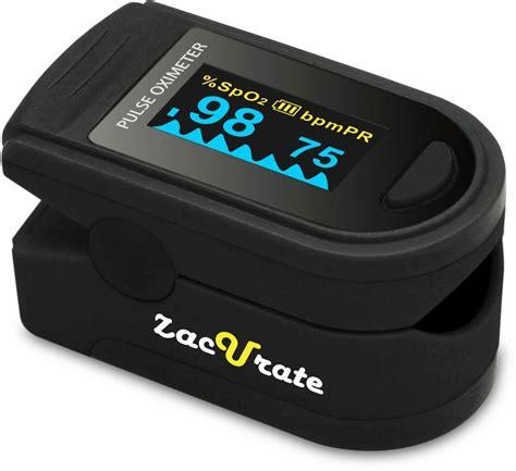 Pulse Oximeter Spo2 Rate zacurate pro series 500d deluxe fingertip