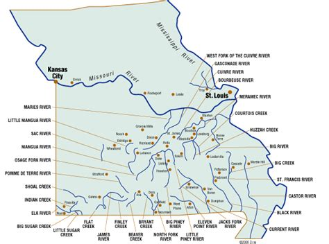 missouri map with rivers floating our missouri rivers