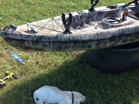 duck hunting inflatable boat kayak build gun mounts waterfowl hunting dogs and duck