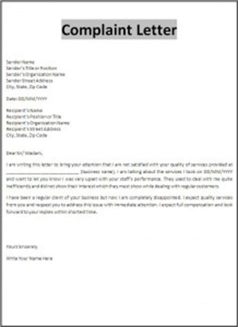 Complaint Letter Template For School Index Of Wp Content Uploads 2012 10