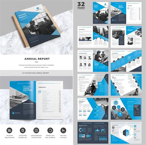 Creative Business Indesign Annual Report Template Annual Report Pinterest Report Template Indesign Business Templates Free