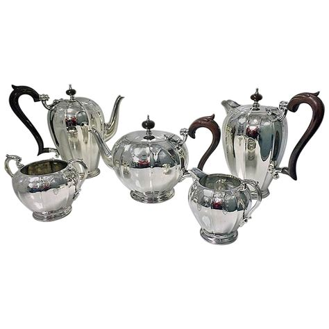 Coffee Set Exspreso Nari 1940s hamilton and co calcutta indian sterling silver tea and coffee set at 1stdibs