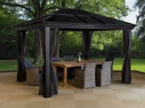 Metal Roof Canopy Gazebo by Gazebo Metal Steel Roof Aluminum Canopy Outdoor Patio Tent