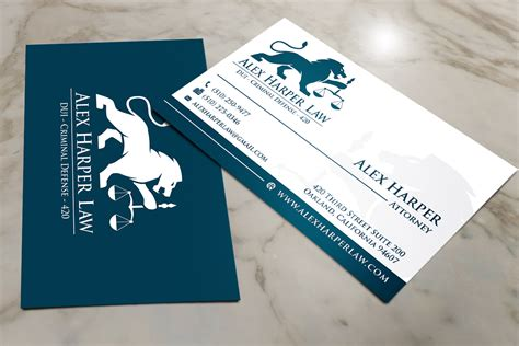 lawyer business card attorneys legal law firms