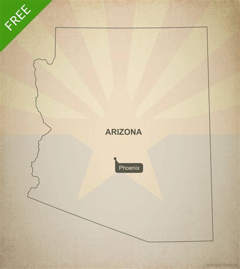 arizona state map outline free vector map of arizona outline one stop map
