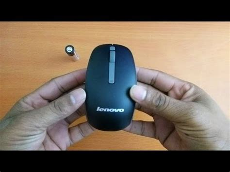 Mouse Wireless Lenovo N100 T1910 5 lenovo n50 wireless mouse black unboxing review by