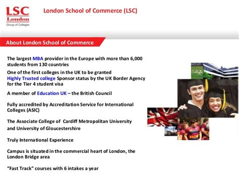 Of Gloucestershire Mba Accreditation by Study With Lsc Highly Trusted College In
