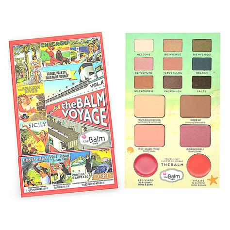 Balm Makeup the balm makeup balm voyage vol 2 eye shadow blusher lipstick multi function make up