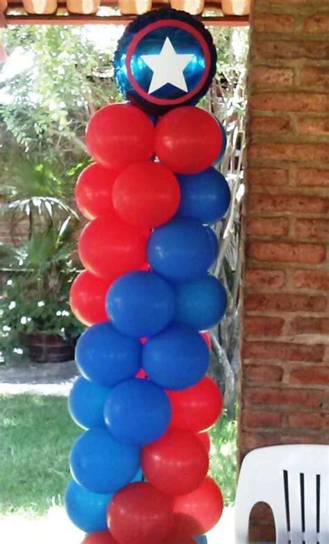 capitan america decoracion ambientacion cotilln fiestas columna fiesta tem 225 tica capit 225 n am 233 rica pinterest