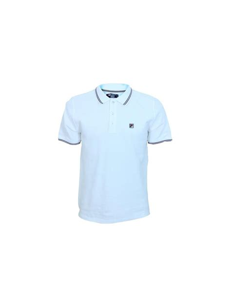 Polo Shirt Fila 3 fila match 3 polo shirt in white northern threads