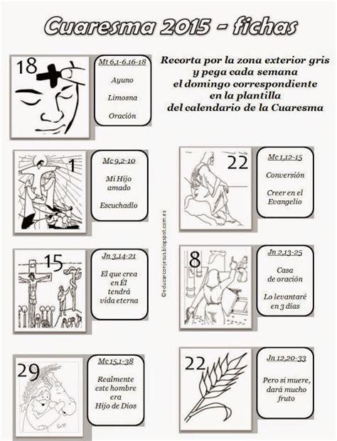 Calendario Cuaresma 2015 Parroquia La Inmaculada Calendarios Cuaresma 2015