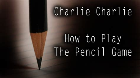 how to play how to play the pencil