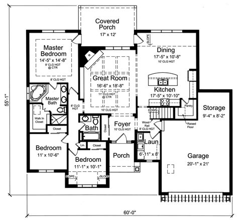 craftsman ranch house plan    bedrm  sq ft home