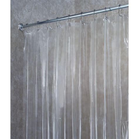 showe curtains interdesign vinyl shower curtain liner in clear 14551