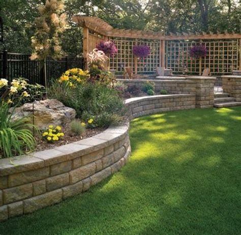 retaining wall ideas for backyard splendid image retaining wall ideas along driveway
