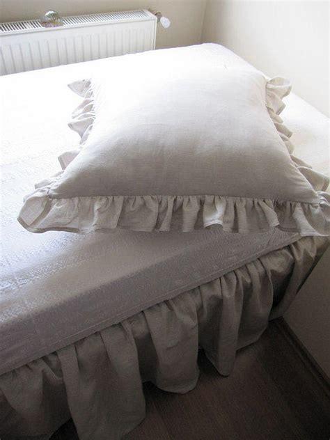 light gray bed skirt linen bedskirt twin full queen linen dust from nurdanceyiz on