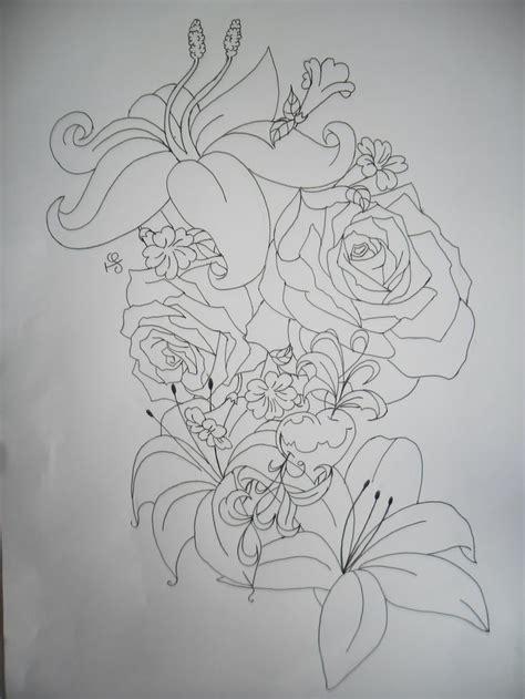 tattoo design outlines flower tattoo outline tattoos pinterest tattoo