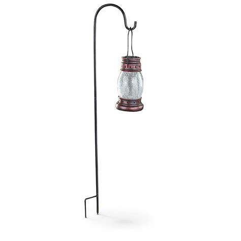 l post lanterns sale 2 pk of solar crackle glass lanterns with hook 627578