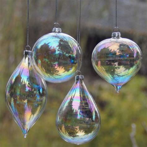 Glass Decorations For Home by 4pcs Lot Glass Clear Baubles Ornaments