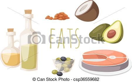 healthy fats clipart food fats high in protein isolated on white avocado