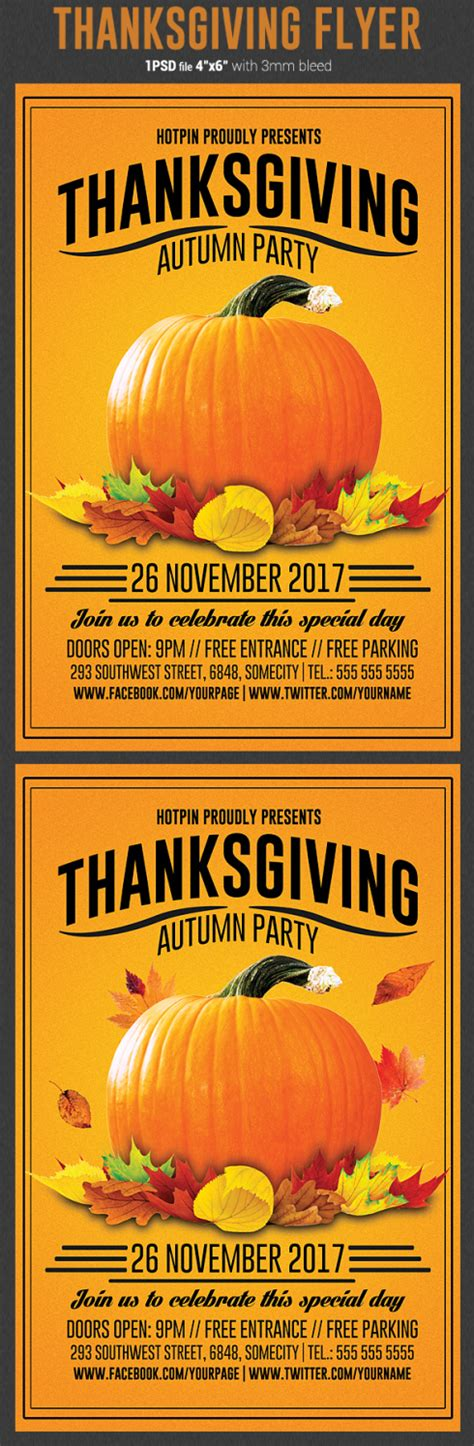Thanksgiving Flyer Template Flyerstemplates Thanksgiving Flyer Template