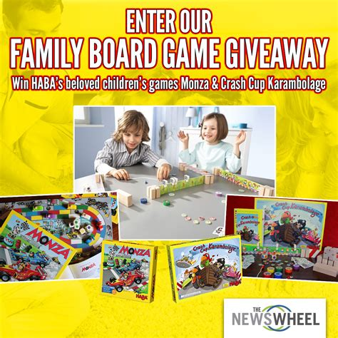 Win Our Giveaway by Enter Our Giveaway Win Family Board For S