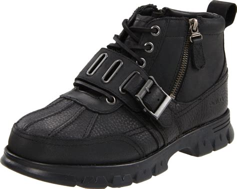 polo ralph mens allendale hiking boot in black for