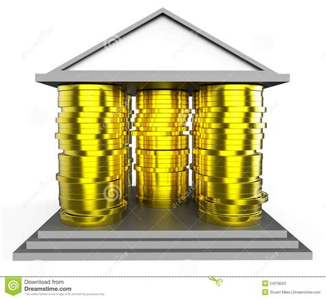 house mortgage meaning house mortgage represents borrow money and building stock illustration image 54518053
