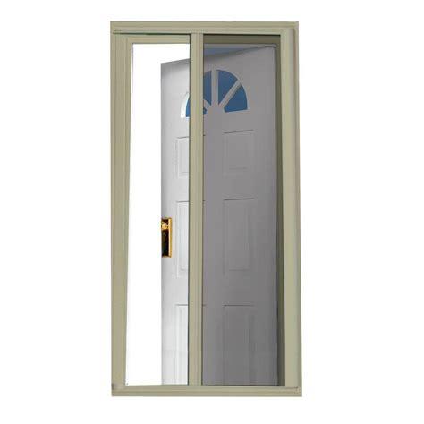 retractable screens for doors home depot seasonguard 40 in x 97 5 in sandstone retractable screen
