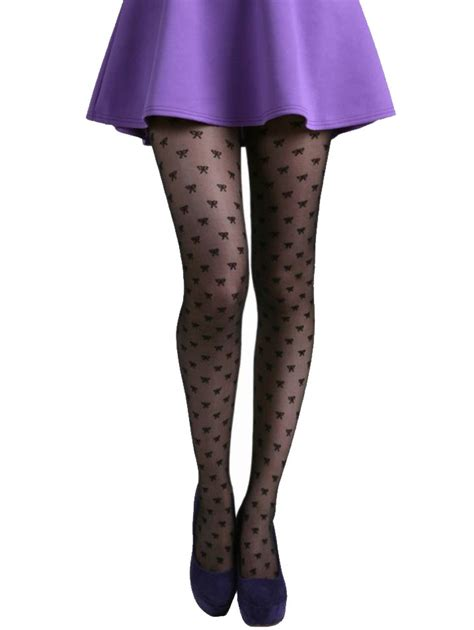 Bow Sheer Tights mann all bow sheer tights exclusief