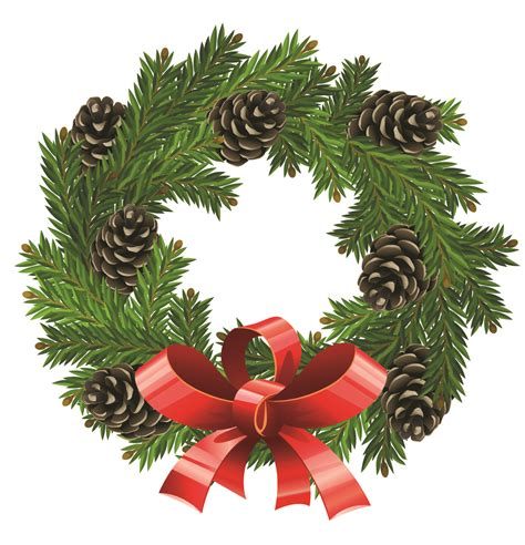 clipart of christmas wreaths 3 image 2 clipartix