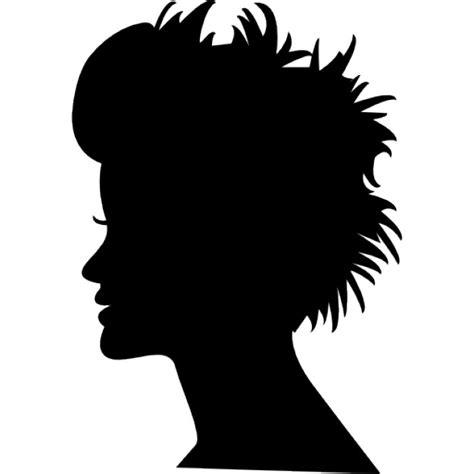 kopf silhouette mit kurzen haaren download der