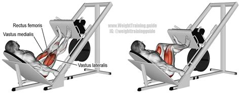 Incline Leg Press Sled Weight incline leg press exercise and weight