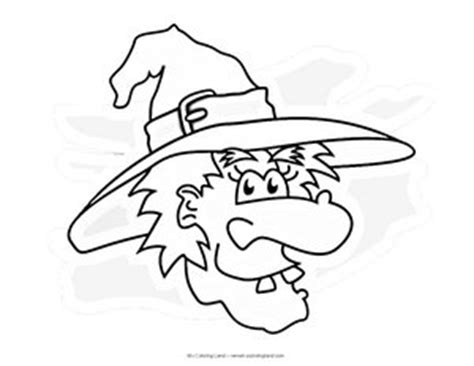 witch head coloring page halloween my coloring land