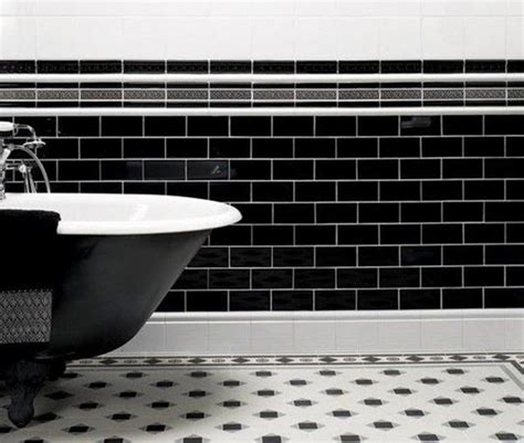 black and white border tiles for bathroom 25 black and white victorian bathroom tiles ideas and pictures