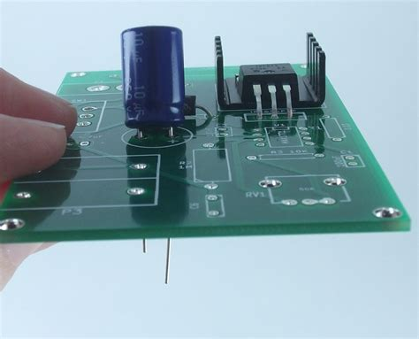 polarized capacitor leg assembly step 1 pcb assembly electrophoresis variable power supply