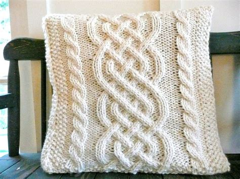knitted pillow cover pattern free reserved for mrstarrant1 celtic weave knit pillow cover