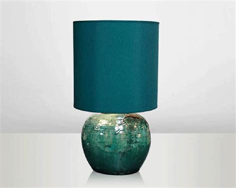 lagoon lamp   ceramic sold   emerald