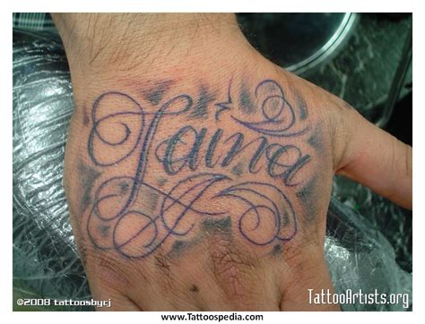 tattoo name on hand image gallery hand tattoos names