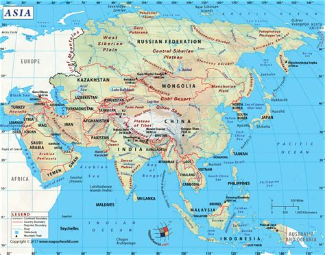 asie map asia map with countries clickable map of asian countries