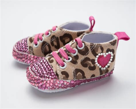 leopard baby shoes pink and leopard baby by alluredesignz