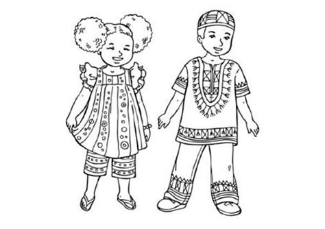 african music coloring pages african clothes for kids african clothes colouring pages
