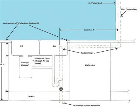 below grade sink drain sink drain vent height terry plumbing remodel diy