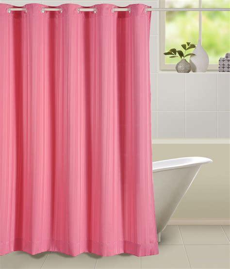 low price shower curtains swayam pink polyester shower curtain buy swayam pink