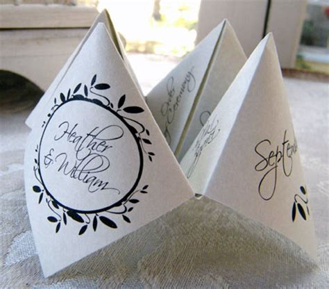 Origami Wedding Cards - fortune teller place cards arts crafts and design finds