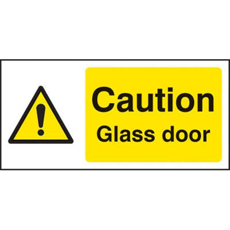 Glass Door Sign Caution Glass Door Signs 4132 Proshield Safety Signs